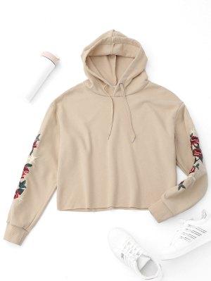 Pullover Hoodie mit Blumestickereien