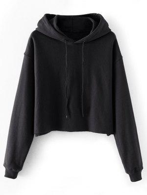Crop Pullover Hoodie mit Tropfen-Schulter