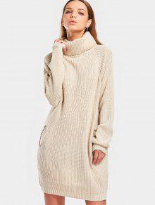 "Sweter z długim rękawem typu ""turtleneck raglan sleeve"""