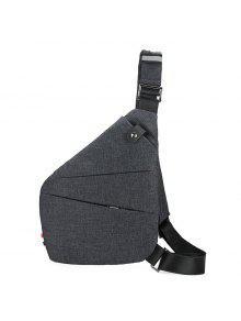 متعدد زيبس مشبك حزام الصدر حقيبة - رمادي