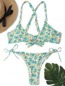 Ensemble De Bikini à Cordes Croisées - S
