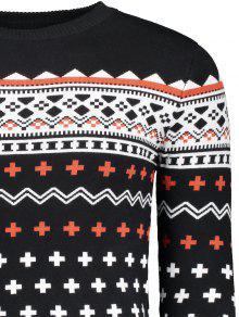 2xl Redondo Hombre Jersey De Negro Para Cuello Jacquard qqc0wEPn