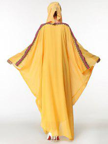 75d7f22353 29% OFF  2019 Batwing Sleeve Maxi Embroidered Chiffon Arabic Dress ...