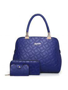 3 قطع حقيبة معدنية مبللة حقيبة مجموعة - أزرق