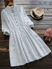 فستان توهج مخطط طباعة الأوراق - شريط