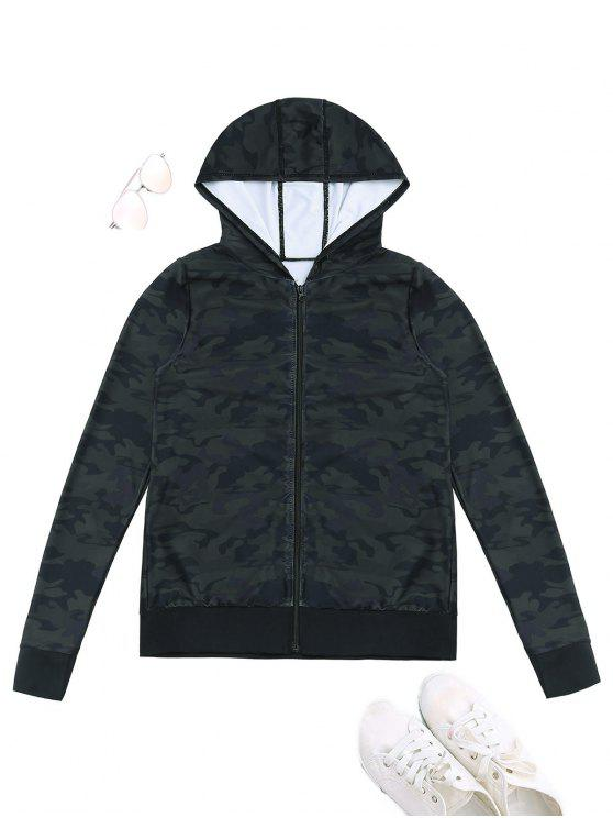 online Sports Camo Hooded Jacket - ACU CAMOUFLAGE XL