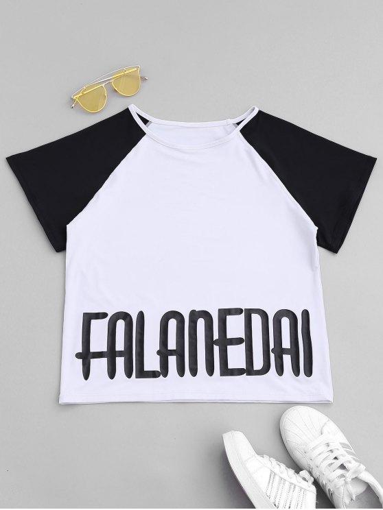 shop Falanedai Graphic Sports T-shirt - WHITE S