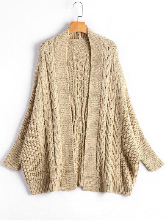 b4d2eaf883 57% OFF  2019 Cable Knit Batwing Sleeve Kardigan In APRICOT ONE SIZE ...