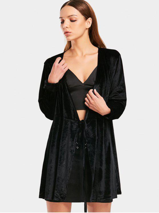 Blusa de terciopelo de terciopelo - Negro S