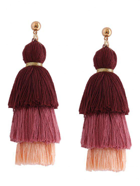 new Layered Tassel Earrings - BROWN