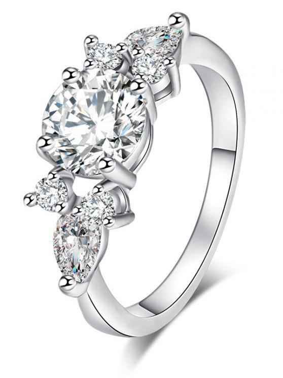 الزركون موجز خاتم معدني - فضة 6