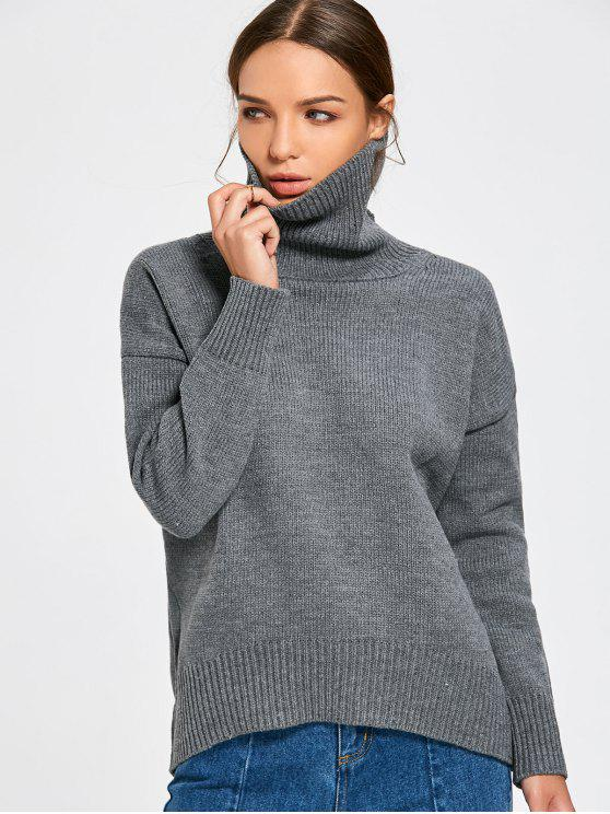 outfits Turtle Neck Chunky Sweater - GRAY ONE SIZE