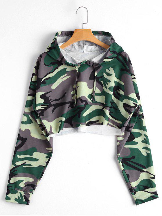 shops Camo Cropped Hoodie - CAMOUFLAGE S