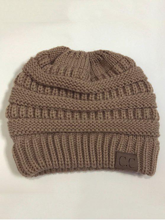 Chapéu de malha superior de Mixcolor Open - Caqui