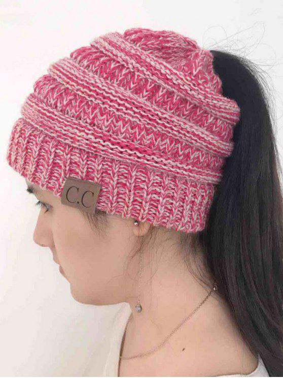online Mixcolor Open Top Knitted Hat - TUTTI FRUTTI
