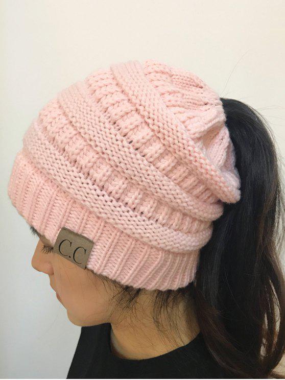 Öffnen Top Farbmischung Strickmütze - Pink