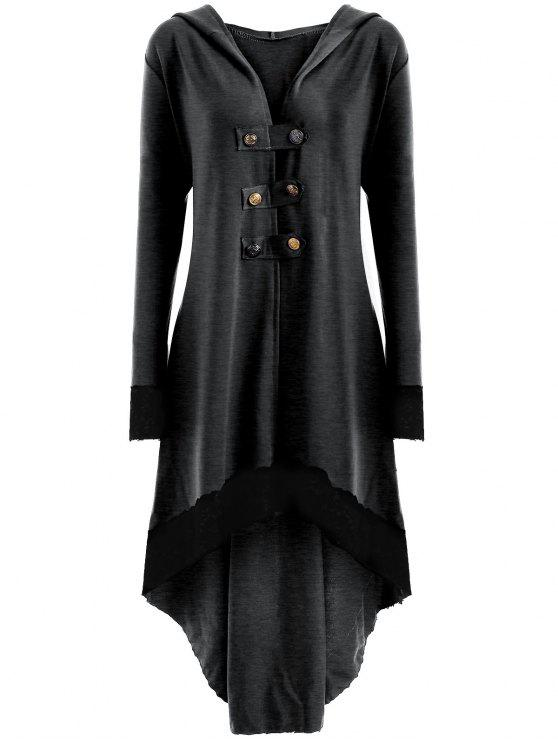 Encaje con capucha de talla grande - Gris Oscuro 3XL
