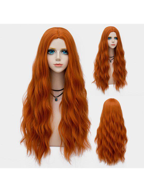 peruca sintética macia e longa de ondas - Pérola Cunquato