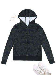 Sports Camo Hooded Jacket - Acu Camouflage Xl