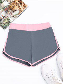 Two Tone Dolphin Shorts - Blue Gray M