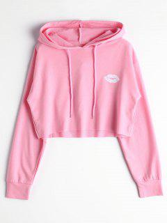 Cute Cropped Hoodie - Light Pink L
