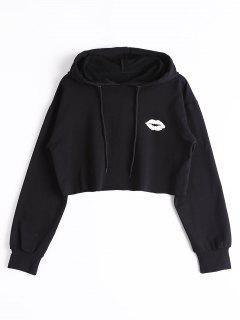 Cute Cropped Hoodie - Black L