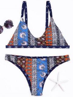 Printed Plus Size Bikini Set - Xl