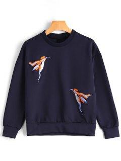 Camiseta Bordada Pájaro - Marina De Guerra Xl