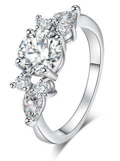 Zircon Brief Metal Ring - Silver 9