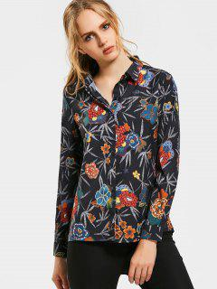 Chemise à Manches Longues à Imprimé Floral - Floral S