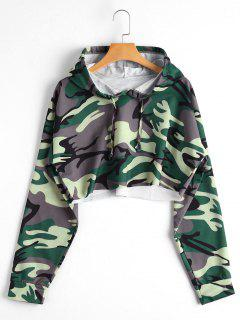 Camo Cropped Hoodie - Camouflage S
