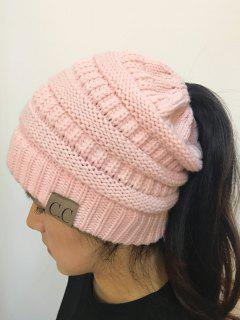 Mixcolor Open Top Knitted Hat - Pink