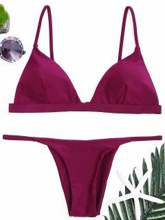 Ensemble De Bikini à Bretelles à Bretelles Spaghetti - Violacé Rouge S