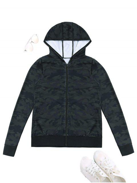 online Sports Camo Hooded Jacket - ACU CAMOUFLAGE XL Mobile