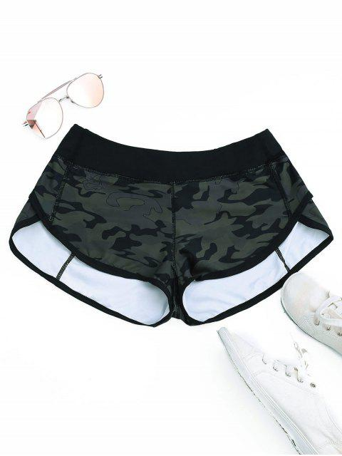 Delphin Shorts mit Camomuster - ACU Tarnanstrich XL Mobile