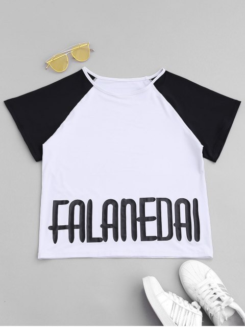 shop Falanedai Graphic Sports T-shirt - WHITE S Mobile