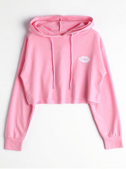 buy Cute Cropped Hoodie - LIGHT PINK M Mobile