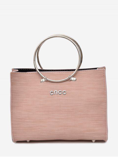 unique Metal Ring 2 Pieces Letter Handbag Set -   Mobile