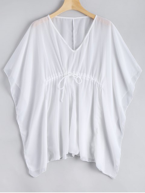 Cache-Maillot Caftan Transparent - Blanc Taille Unique Mobile