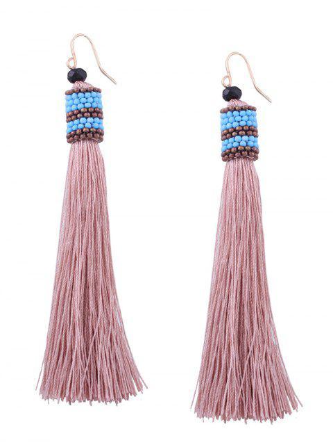 Boucles d'oreilles en crochet en perles vintage - Rose Clair  Mobile