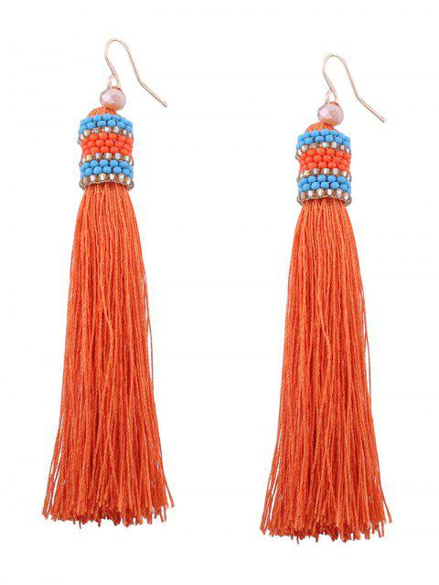 sale Vintage Tassel Beaded Hook Earrings -   Mobile