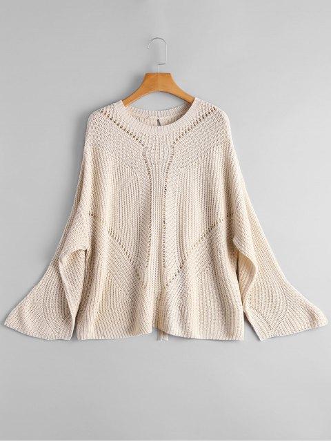 Suéter de encaje con espalda - Apricot Light Única Talla Mobile