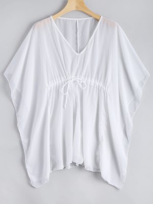 Sheer Kaftan Cover-up Top