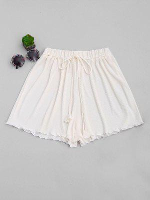 Short plissé couvert