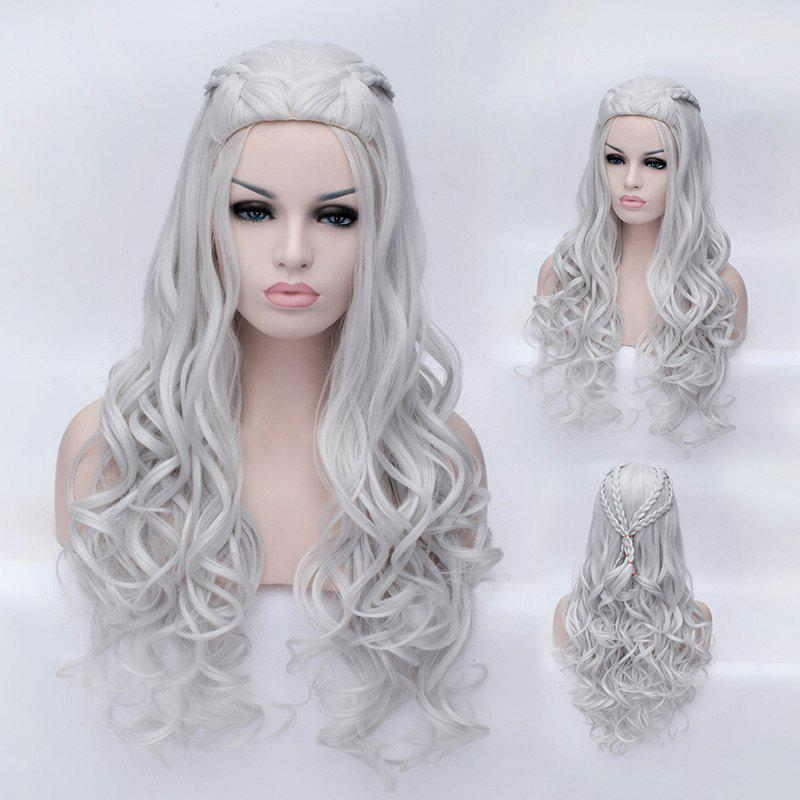 Long Braided Wavy Game of Thrones Daenerys Targaryen Cosplay Synthetic Wig 226371101