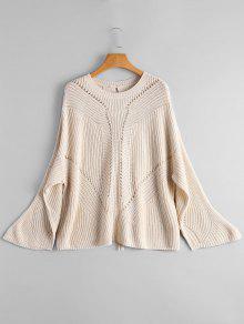Suéter De Encaje Con Espalda - Apricot Light