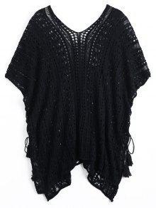 Vestido De Encaje Con Ganchillo De Encaje - Negro