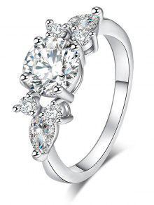 الزركون موجز خاتم معدني - فضة 9