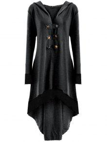 معطف الحجم الكبير رباط - الرمادي العميق 3xl