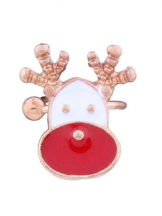 Brazalete de oído de ciervo de Navidad - Rojo